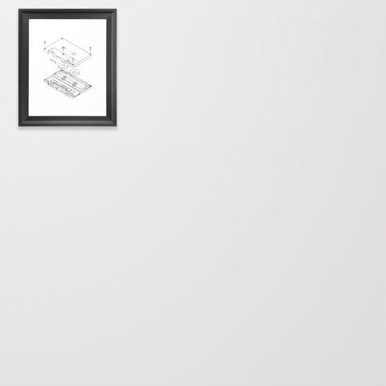 Exploded Cassette Tape  Framed Art Print