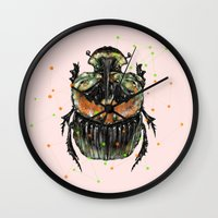 insect Wall Clocks featuring INSECT X by dogooder