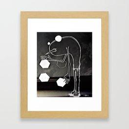 Hello Anxiety Framed Art Print