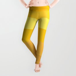 Afternoon Sun Rays - Golden Yellow Variable Stripe Pattern  Leggings