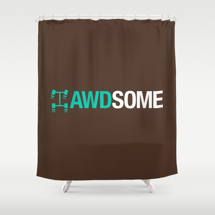 AWDSOME v3 HQvector Shower Curtain