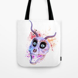 Ankou - colorful head Tote Bag