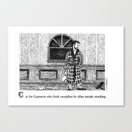 C is for Cameron Canvas Print