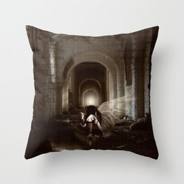 I Thought I Was Your Angel Throw Pillow