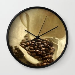 Coffee break in the morning time  Wall Clock