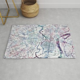 Philadelphia map Rug