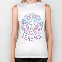 versace Biker Tanks featuring Versace always stuntin' by Goldflakes
