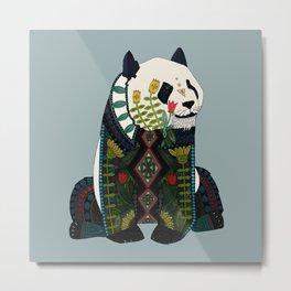 panda silver Metal Print