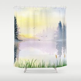 Foggy Morning 3 Shower Curtain