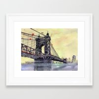 cincinnati Framed Art Prints featuring Cincinnati by takmaj