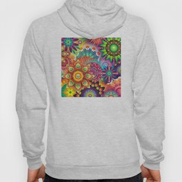 Psychedelic Colorful Bloom Hoody