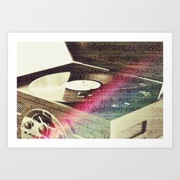 Music on the stereo Art Print