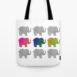 Nine Elephants Tote Bag