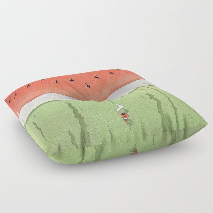 Fleshy Fruit (Watermelon) Floor Pillow