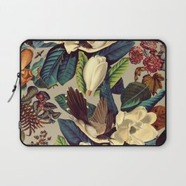 FLORAL AND BIRDS XXI-II Laptop Sleeve