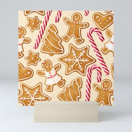 Gingerbread Cookies & Candy Canes Mini Art Print