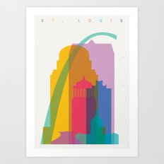 Shapes of St. Louis. Accurate to scale Art Print