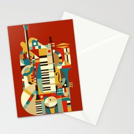 Jazz Fusion Stationery Cards
