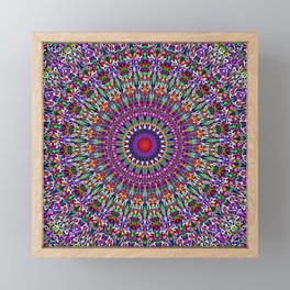 Vivid Lace Ornament Mandala Framed Mini Art Print