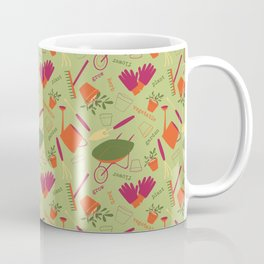 A Day in the Garden - Green Coffee Mug