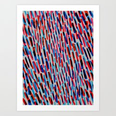 blue and red Art Print
