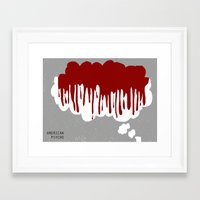 american psycho Framed Art Prints featuring American Psycho by Courtney Vlaming