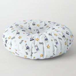 Sick wizards grey Floor Pillow