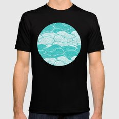 The Calm and Stormy Seas Black MEDIUM Mens Fitted Tee