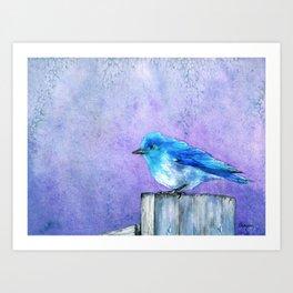Bluebird Bliss Art Print