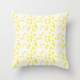 Triangle Pattern Yellow Throw Pillow