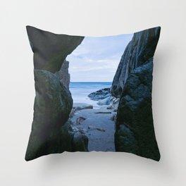 Hidden Cave Throw Pillow