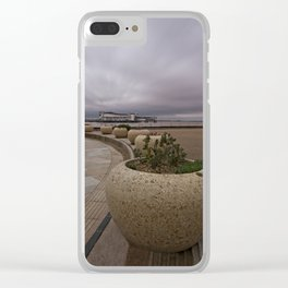 Weston-Super-Mare Seafront View Towards The Grand Pier Clear iPhone Case