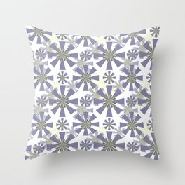 Abstract floral, geometric pattern.2 Throw Pillow