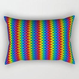 Zigzag Rainbow Rectangular Pillow