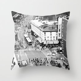 Street people in New York Throw Pillow