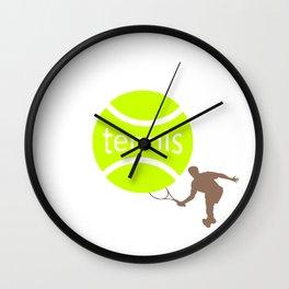 Tennis player Wall Clock