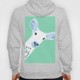 Deer in the Nature with Flowers Hoody