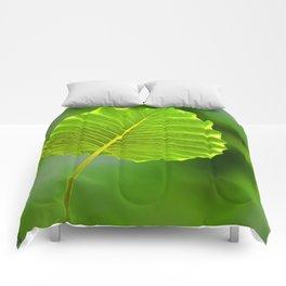 Bokeh Leaf Comforters