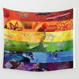 Rainbow love Wall Tapestry