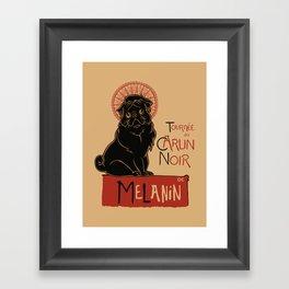 Le Carlin Noir (The Black Pug) Framed Art Print