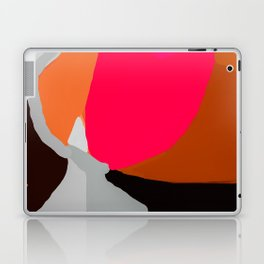 Abstract in Pink, Brown and Grey Laptop & iPad Skin
