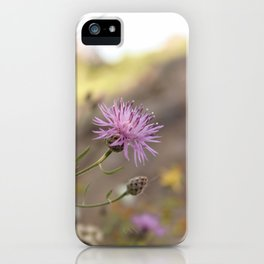 Purple Flowers Vintage on the Beach iPhone Case