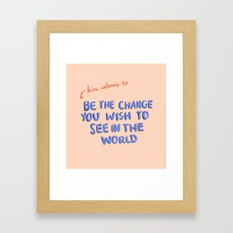 Hire Interns Framed Art Print