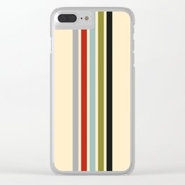Racing Stripes Clear iPhone Case