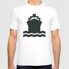 Ship Mens Fitted Tee White SMALL