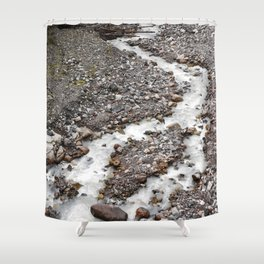 The birth of Nisqually river Shower Curtain