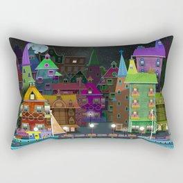 fantasy village by the sea Rectangular Pillow
