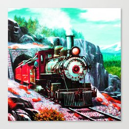 starry night train Canvas Print