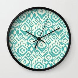lezat turquoise Wall Clock