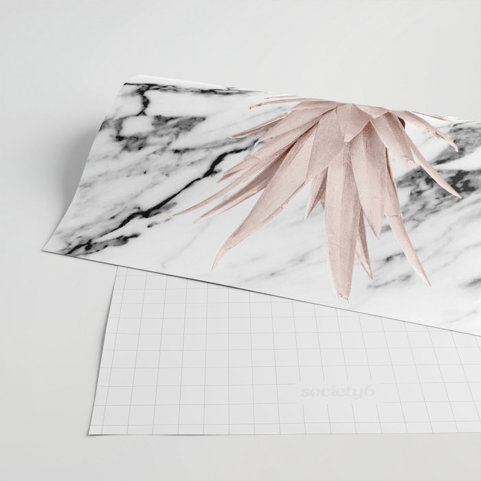 Pineapple Rose Gold Marble Wrapping Paper